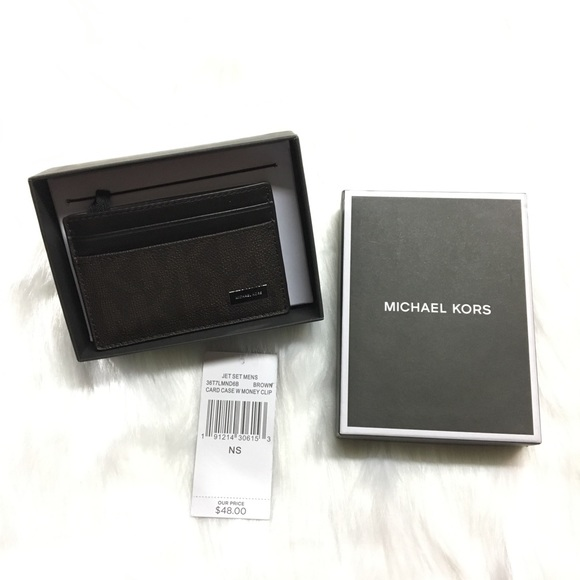 24748a44335a Michael Kors Accessories | Jet Set Mens Card Casemoney Clip | Poshmark